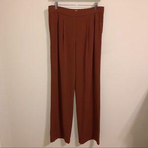 Babaton Aritzia Orange Clancy Wide Leg Pants| 10